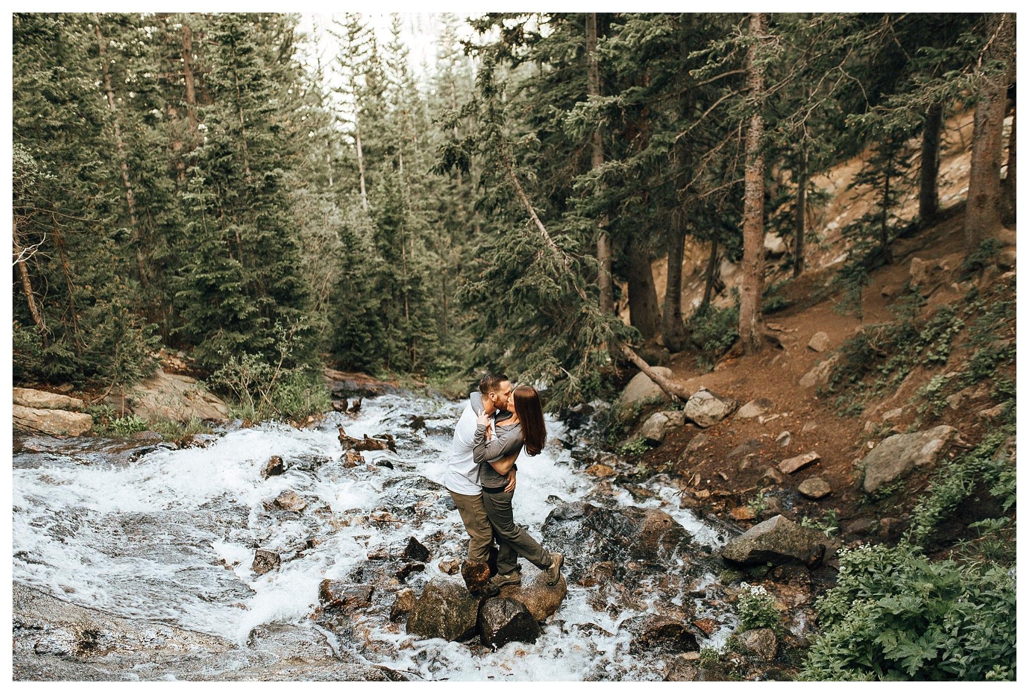 StMarysGlacierwaterfallengagementphoto
