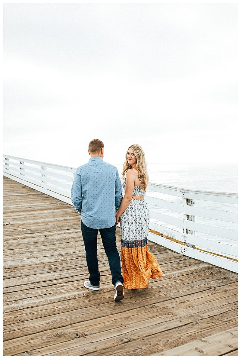 open back dress pacific beach engagement session