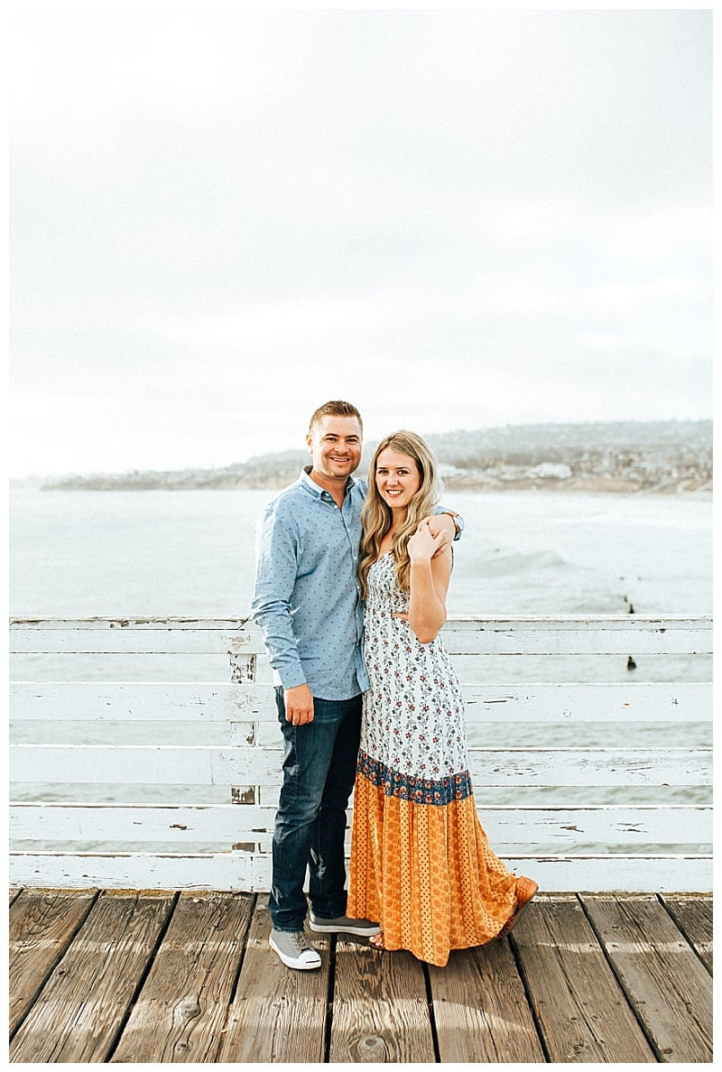 crystal pier engagement photos pacific beach