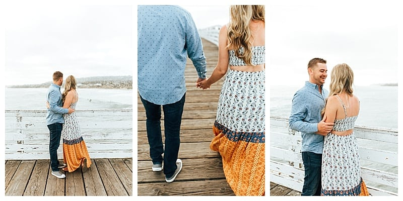 crystal pier engagement session san diego